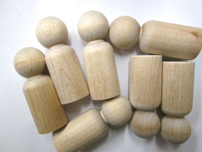 Little Peg Doll Wooden people for Wood Toys and games  Child Peg Dolls (1st quality 1